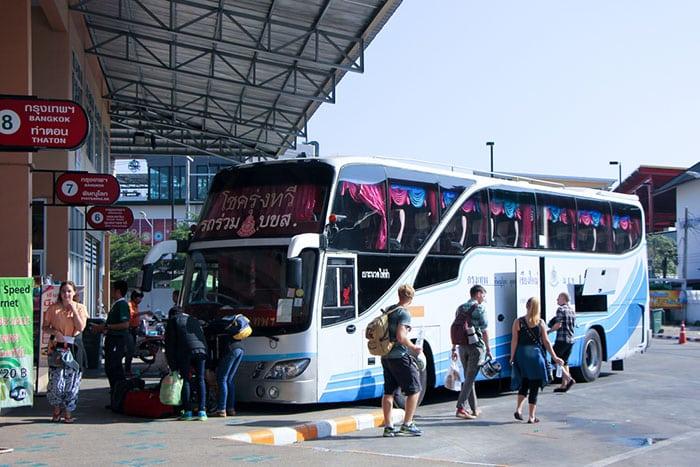 Autobus da Bangkok a Chiang Mai