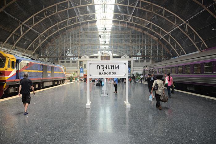 La stazione ferroviaria Hua Lamphong a Bangkok