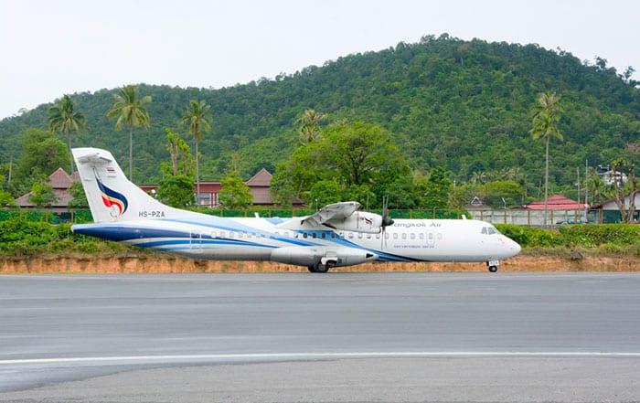 Aereo della Bangkok Airways all'aeroporto di Koh Samui