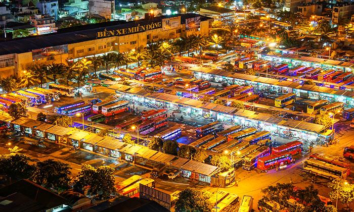 L'autostazione Mien Dong a Ho Chi Minh