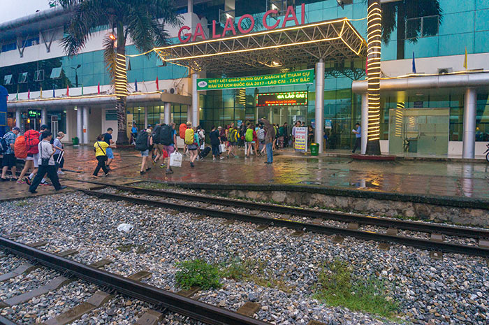 La stazione ferroviaria di Lao Cai.