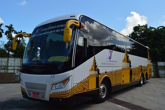 Autobus da Yangon a Mandalay