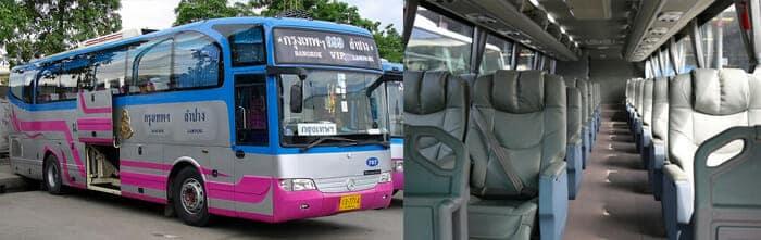 Autobus VIP Bus con disposizione 2+1 dei posti a sedere