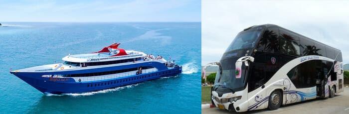 Biglietto Combinato Autobus + Traghetto per andare da Krabi a Koh Phangan