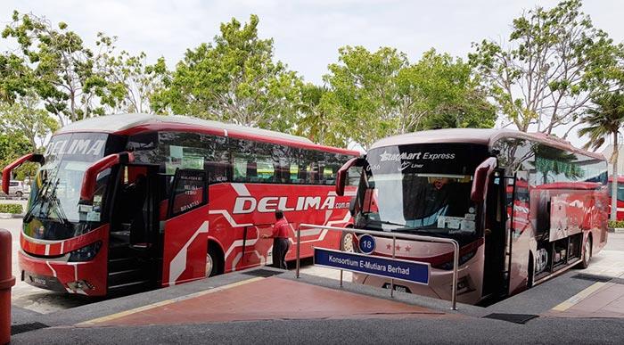 L'Autobus da Kuala Lumpur a Malacca