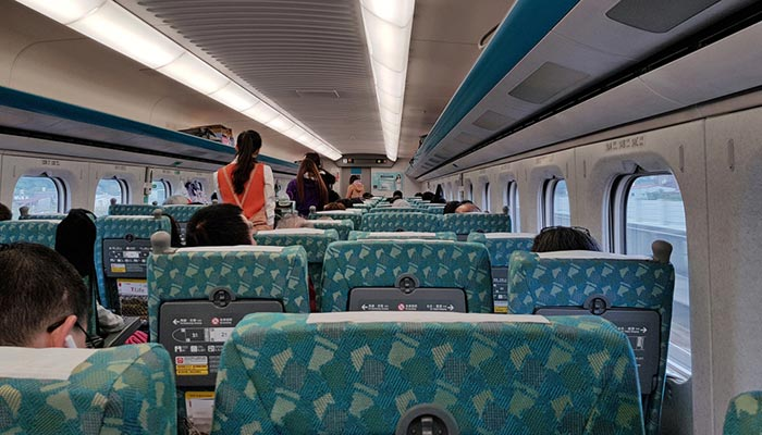 Da Taipei a Taichung in Treno