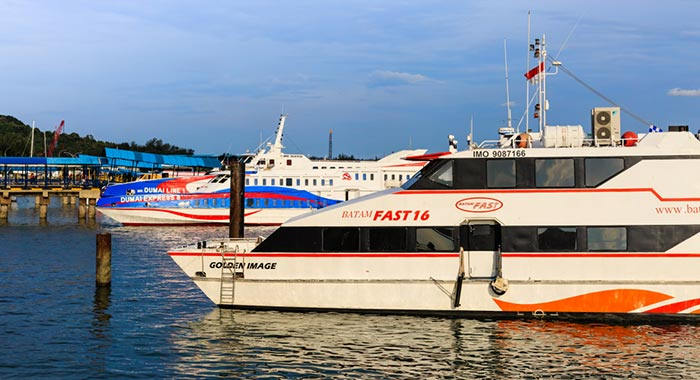 Da Singapore a Batam in Traghetto
