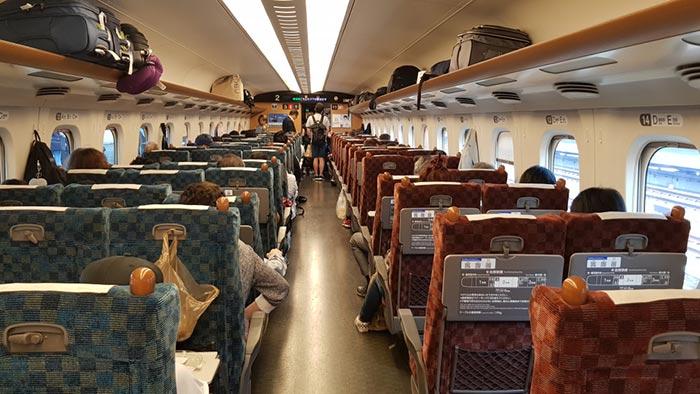 Da Osaka a Nagoya in Treno
