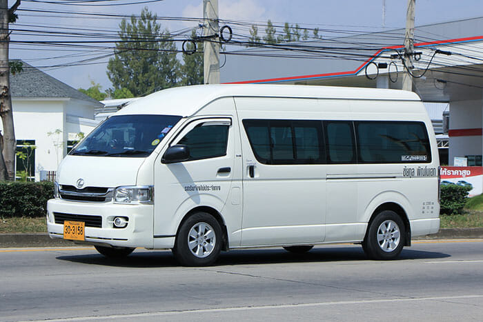Da Bangkok a Phitsanulok in Taxi