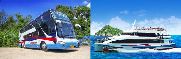 Autobus e Traghetto da Hua Hin a Koh Tao